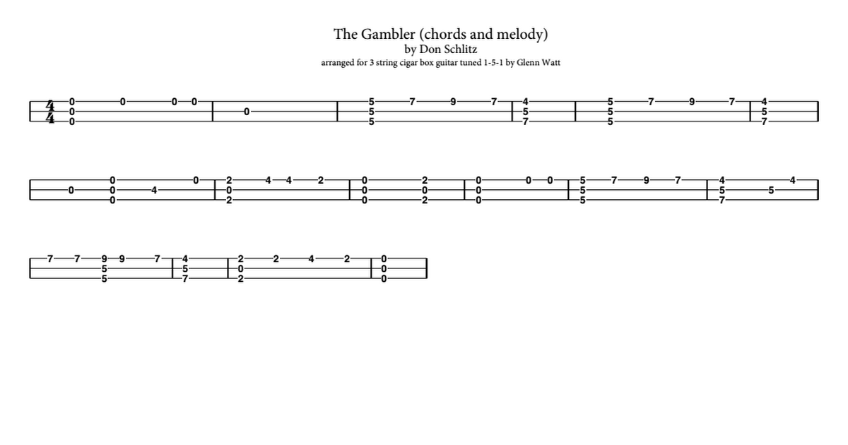 The Gambler Chords And Melodypdf Google Drive