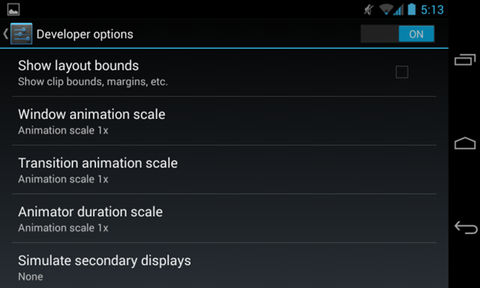 disable android animation