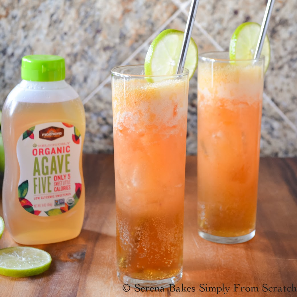 Agave Peach Moscow Mule Mocktail