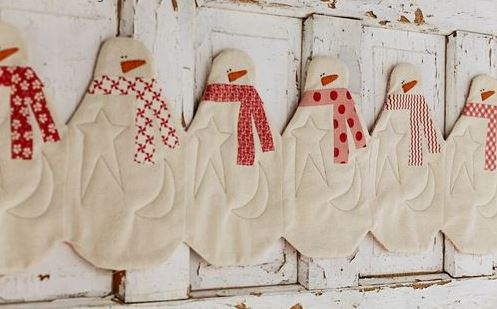 Cute Snowman Table Runner