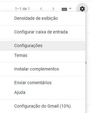 Abrir configurações de email Gmail