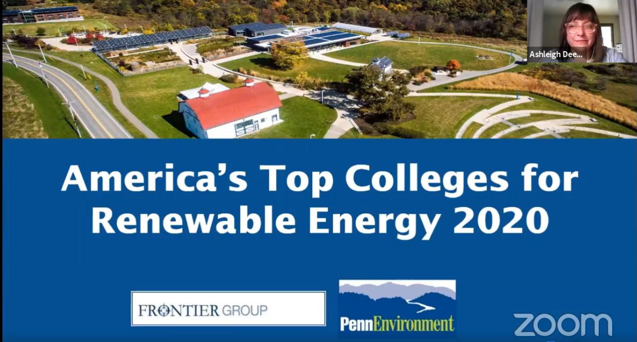 New Study Pa Colleges And Universities Get High Marks For Renewable Energy Pennenvironment