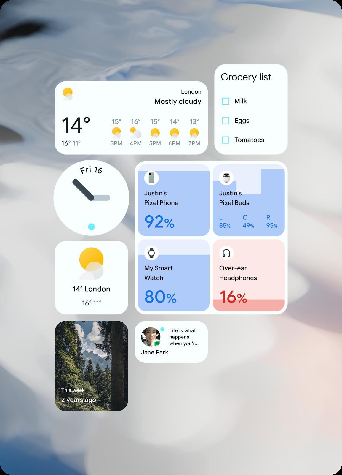 Android 12의 새 UI 이미지