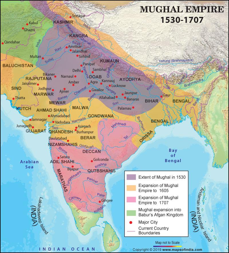 Image result for mughal empire map