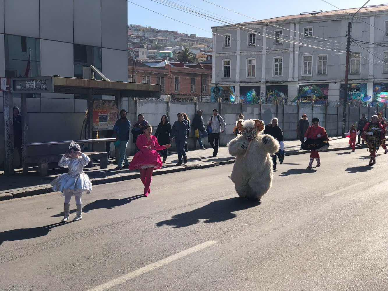 many street parades take to the streets of Valparaíso, Chile