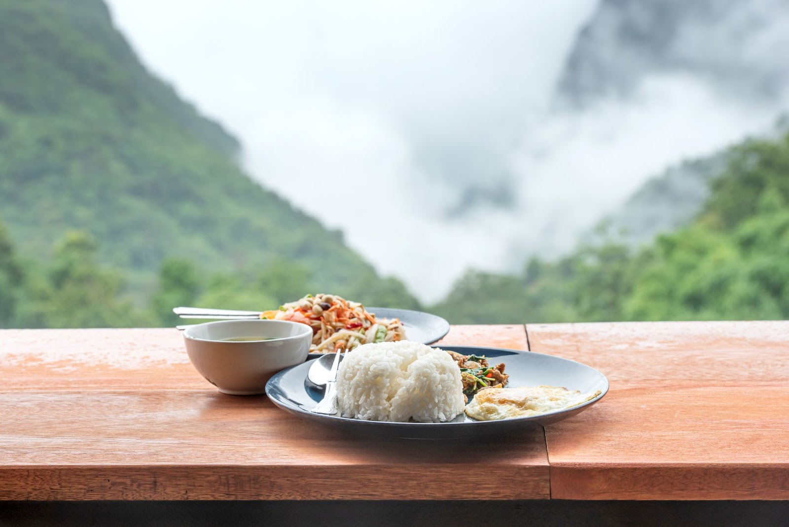 Delicious and healthy meals in Thailand