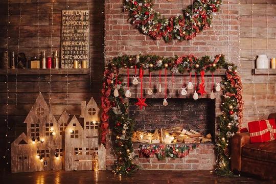 Christmas Brick Wall Decor Ideas