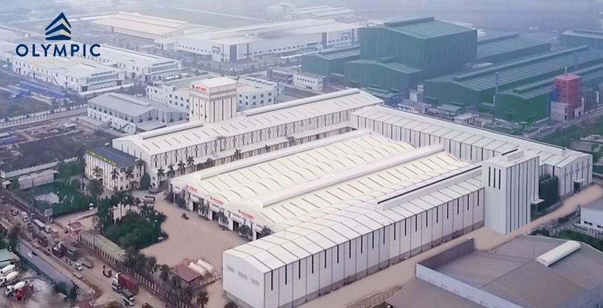 Vẻ đẹp của công trình sử dụng mái tôn Olympic