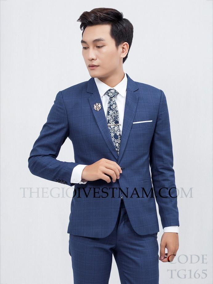 Vest xanh đậm caro