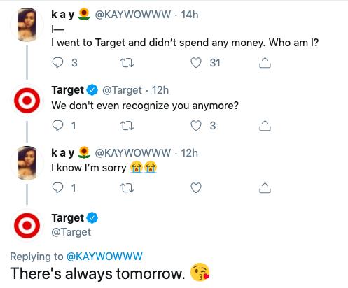 Target's playful banter on social media