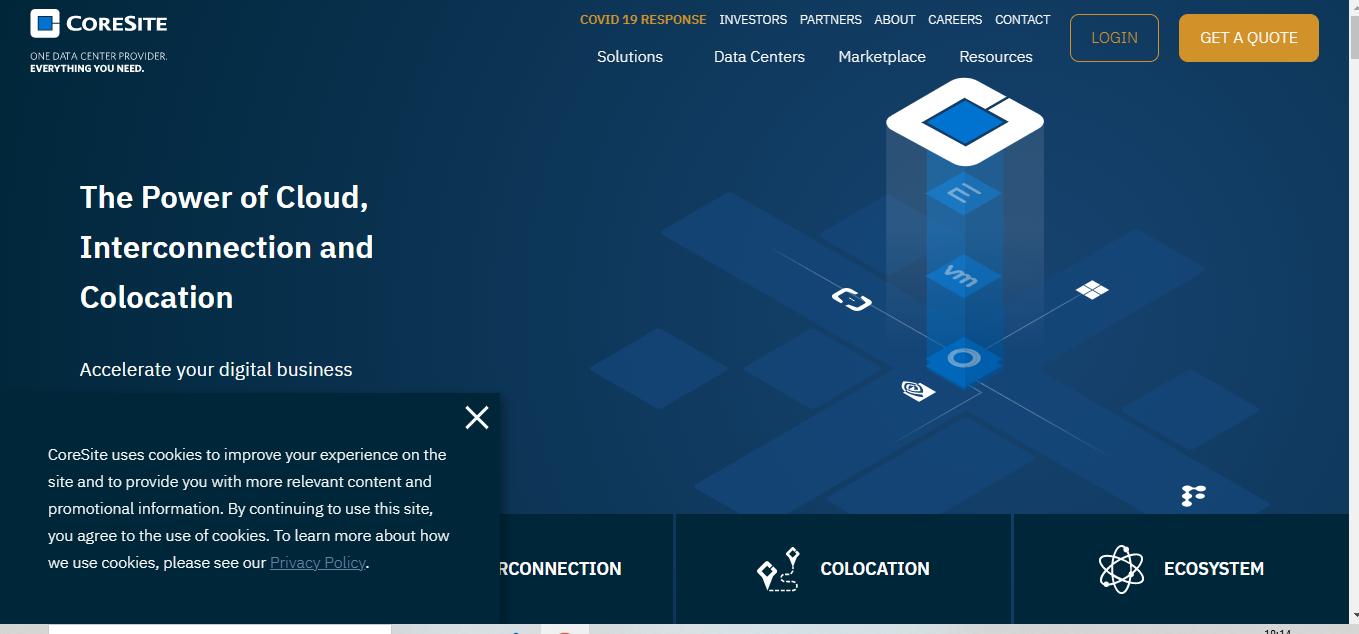 Coresite is a Data Center provider