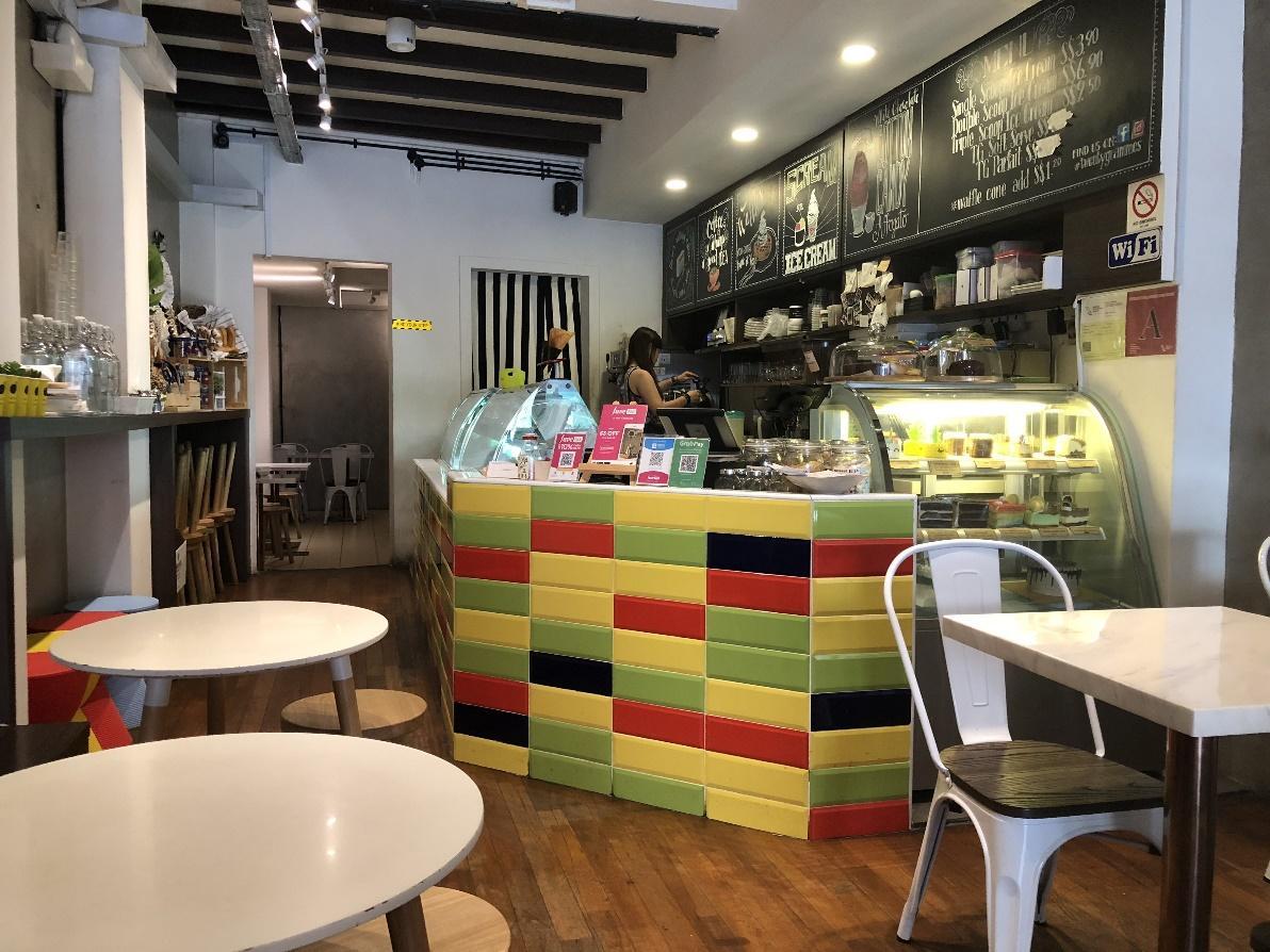 Twenty Grammes Review: Pretty blue milk soft serve on yuan yang waffle