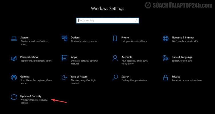 Vào Windows để cập nhật phiên bản mới