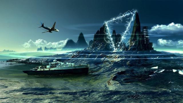 Une représentation très imagée du Triangle des Bermudes.
