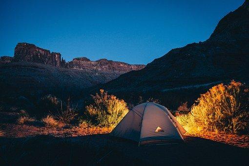 Tent, Camping, Remote, Campsite