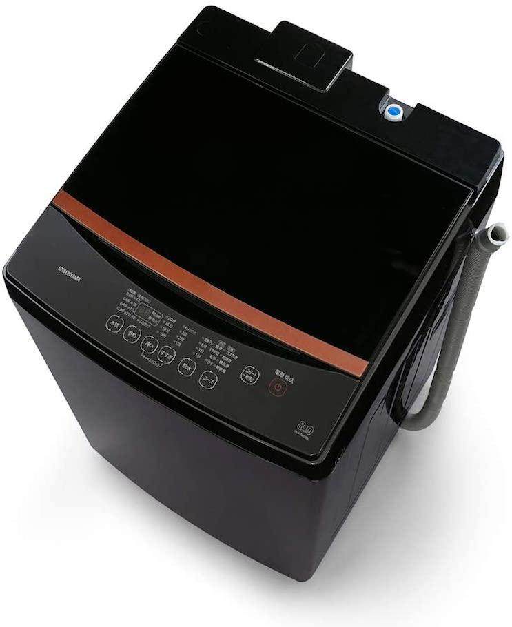 アイリスオーヤマ洗濯機8kgブラックレーベル IAW-T803BL