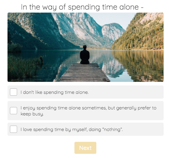 time alone question