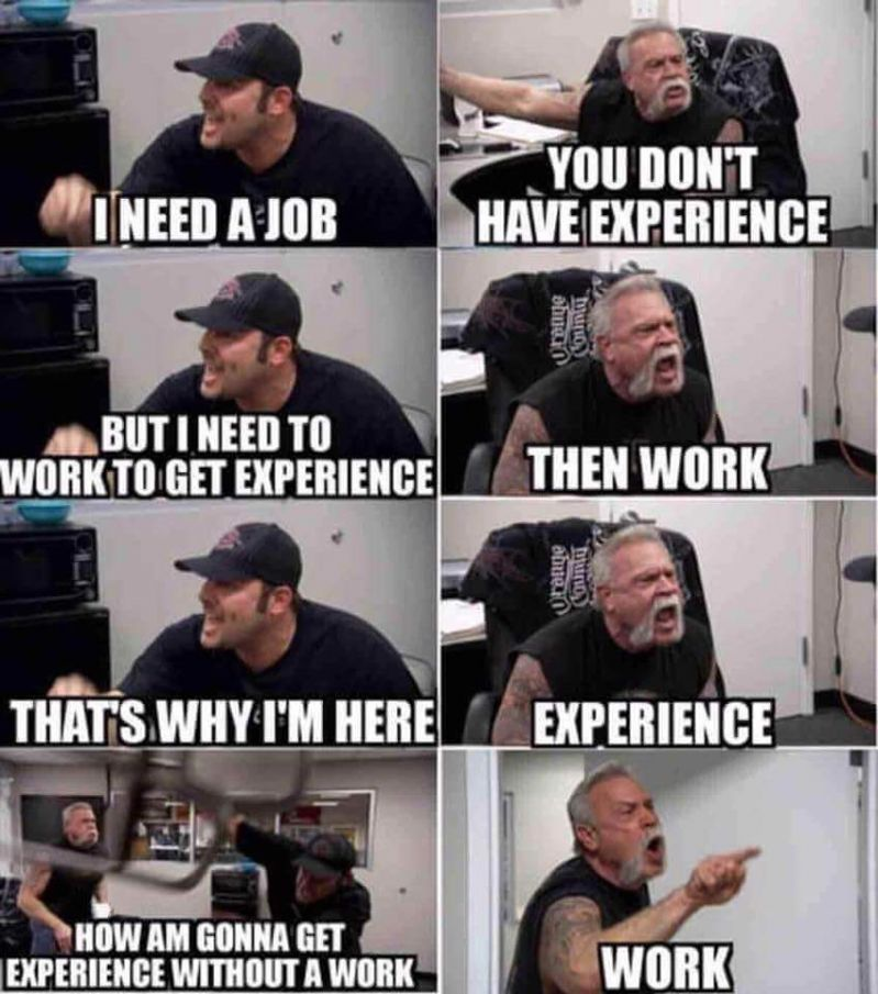 Experience without a job