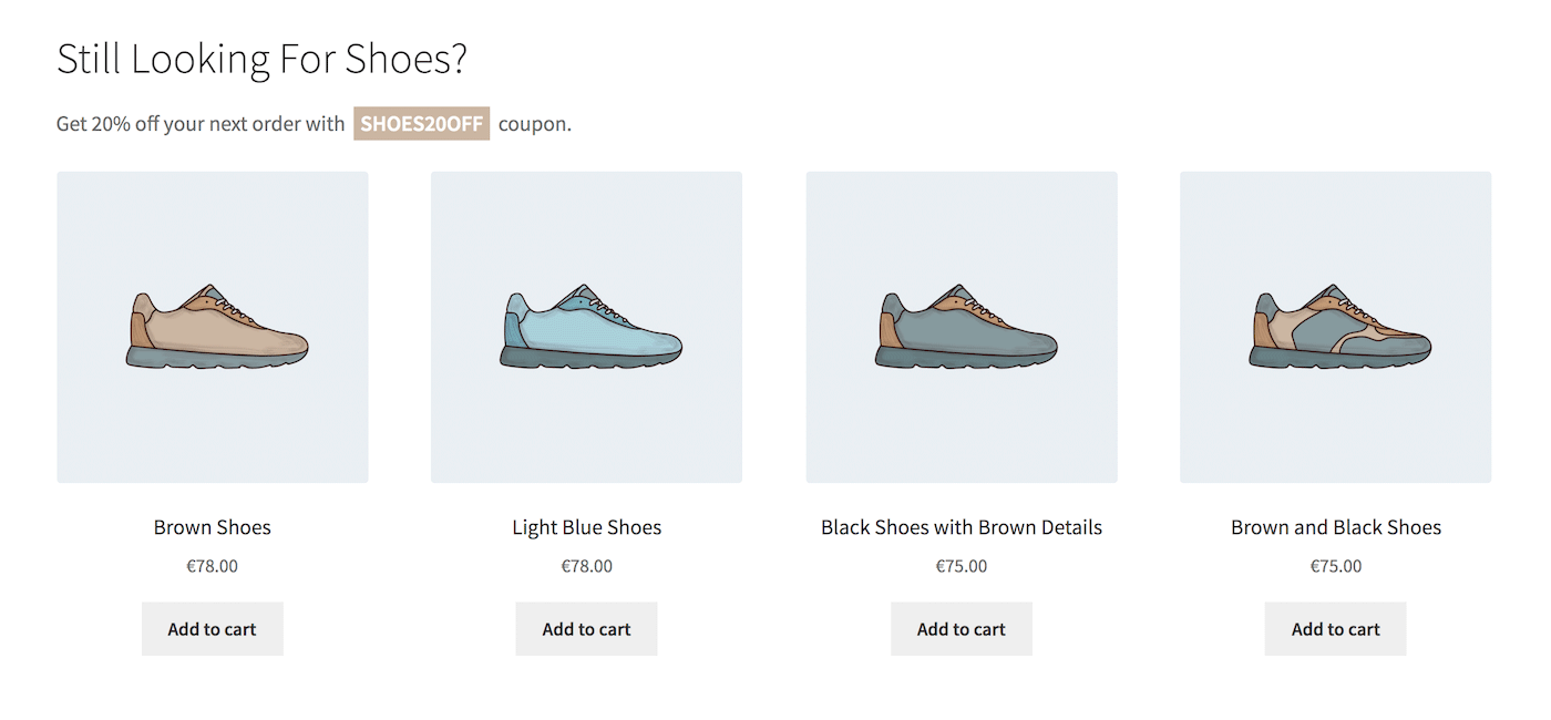 Personalization strategy recommended shoe products
