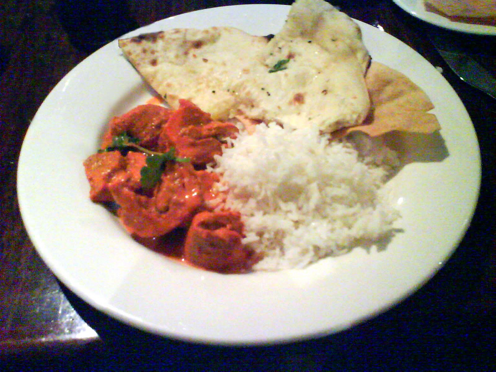Image result for butter chicken with naan bread