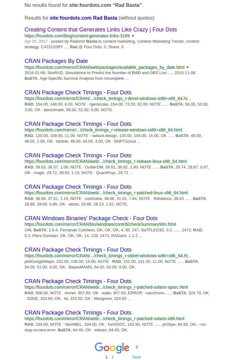 trang web điều hành tìm kiếm của Google