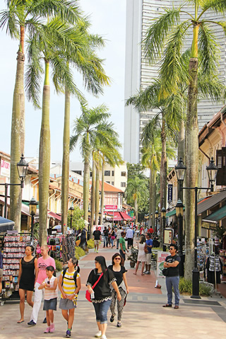 Singapore's Arab Quarter draws an eclectic mix of visitors and locals, day and night. The descendants of its original Arab residents still celebrate their heritage, but mostly live elsewhere in the city.