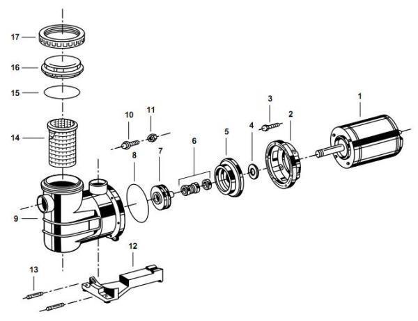diagrama explodido de um projeto mecânico