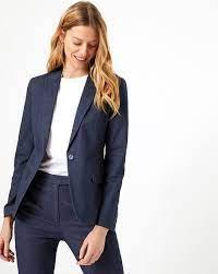 Buy Blue Blazers & Waistcoats for Women by Marks & Spencer Online | Ajio.com