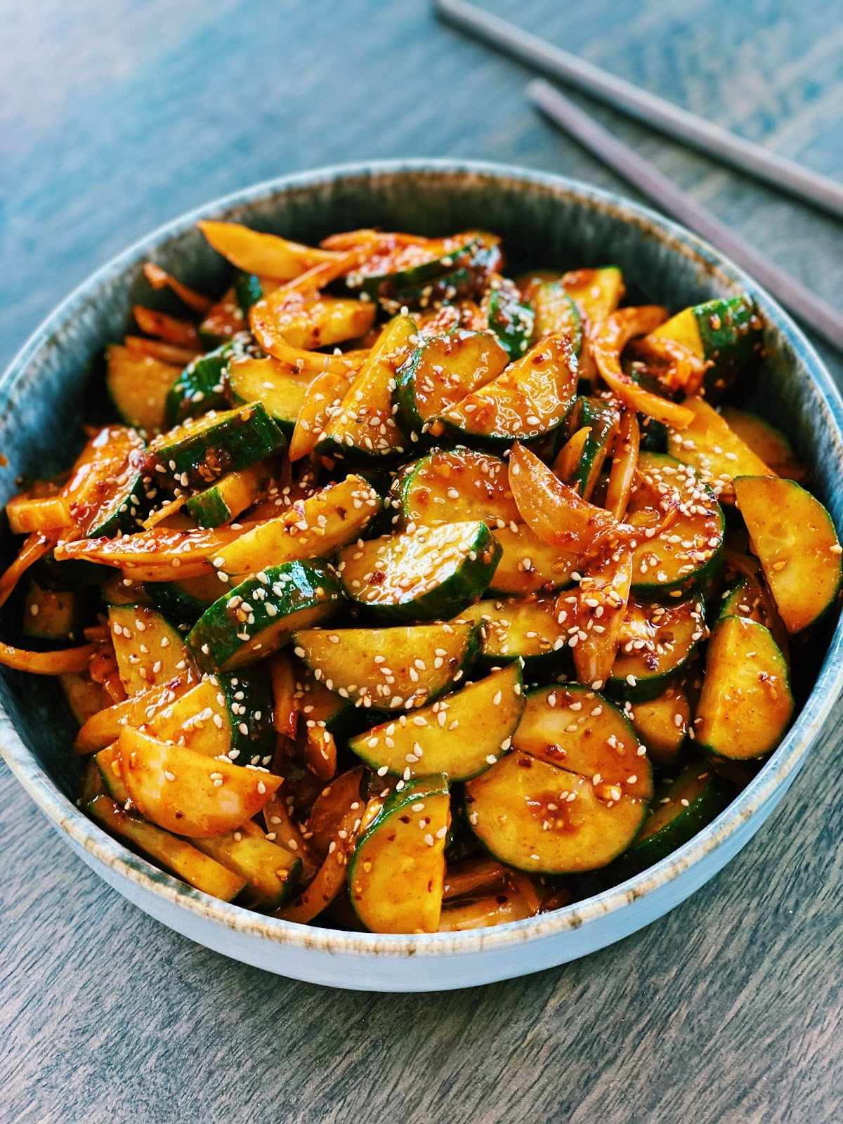 Spicy Korean Cucumber Salad (10 Minutes ONLY!)