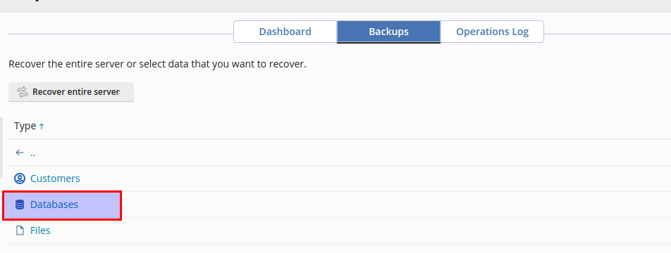 Download and Restore Data in Acronis Backup Module