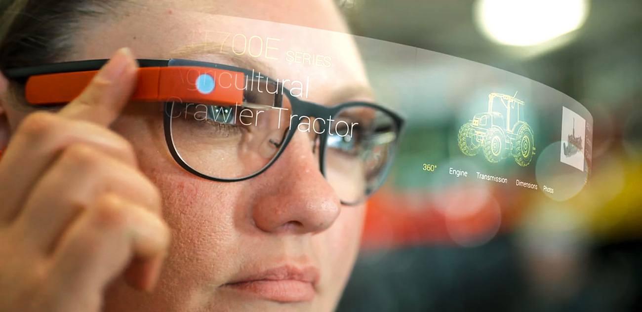 Woman Using Smart Glasses