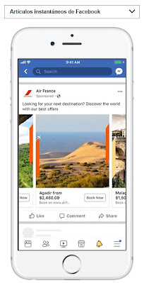 Formato de secuencia de Facebook ads