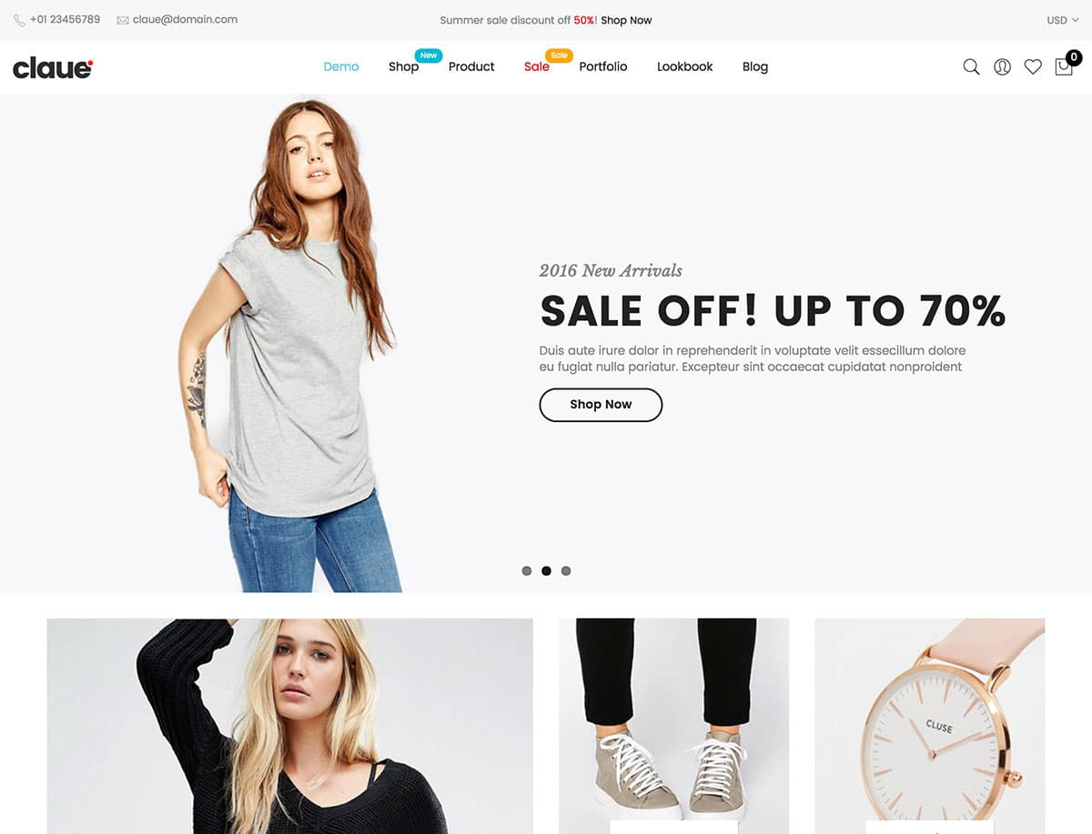 Wordpress ecommerce themes claue