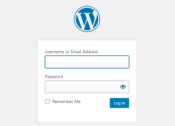 Enter wordpress login details to start a blog in south Africa