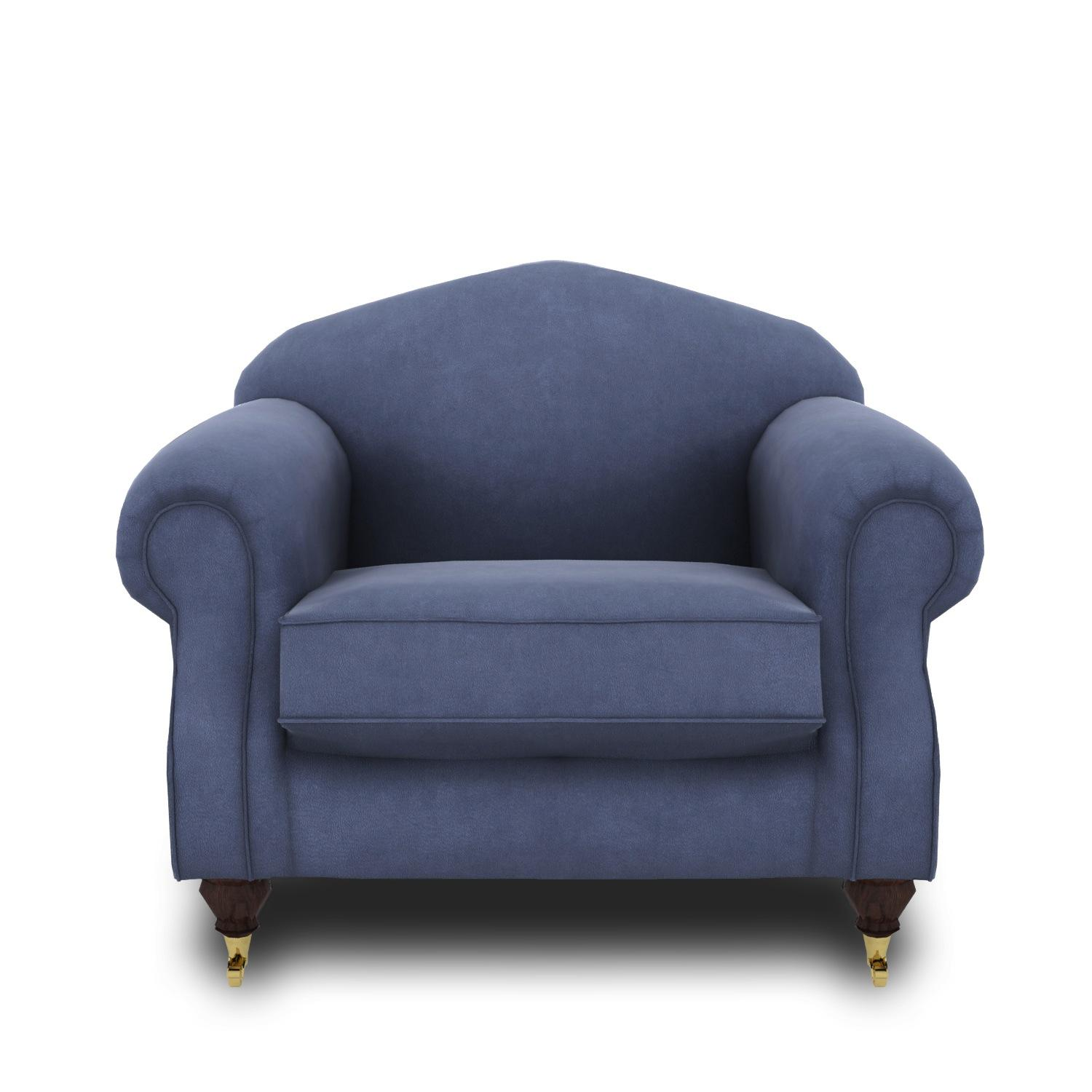 A blue chair with a white background  Description automatically generated with medium confidence