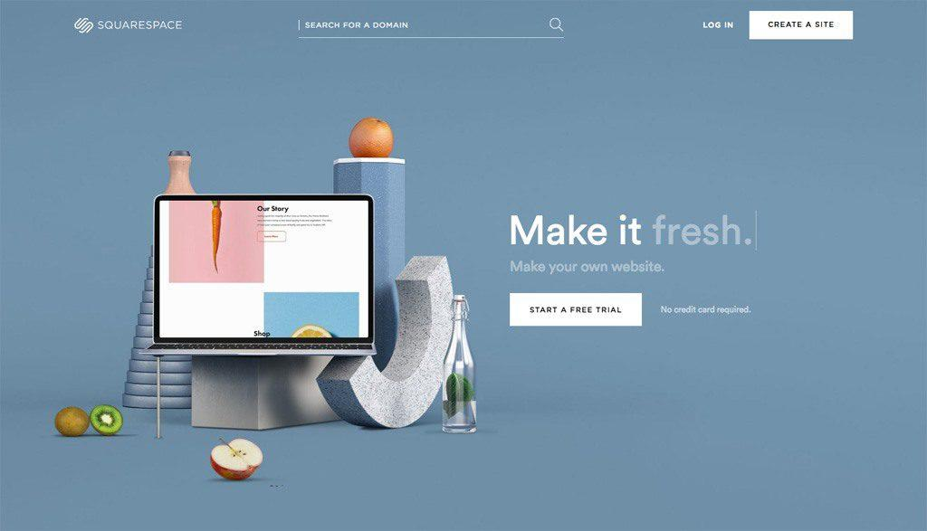SquareSpace Free Blogging and Website