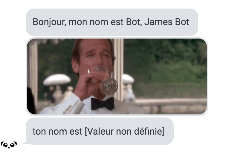 Echange de messages d'un chatbot