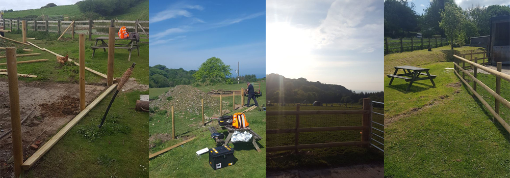 Lower Campscott Self Catering accommodation have been busy erecting new fencing before welcoming guests back.