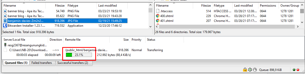 Cara menggunakan FTP FileZilla image 6