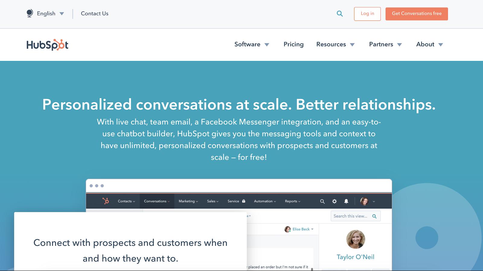 HubSpot conversations page Copy audit