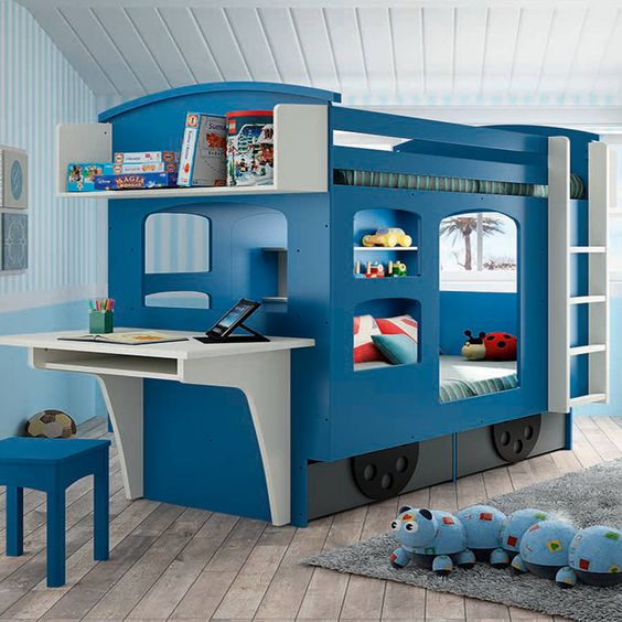 Vehicle Bunk Bed for Boys
