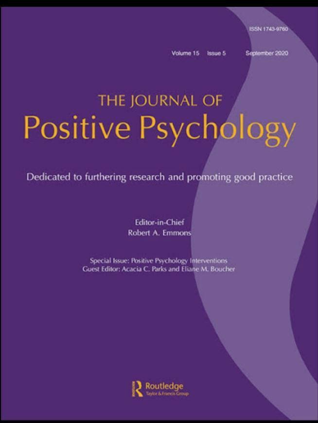 Indian Journal Of Positive Psychology