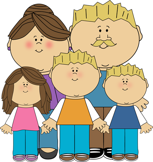 Image of family standing together