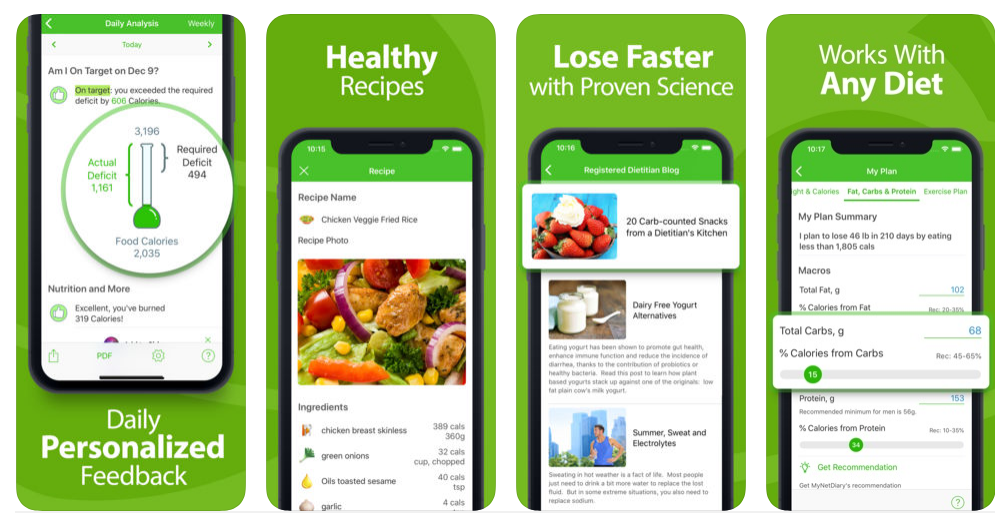 health and fitness tracker app Calorie Counter MyNetDiary