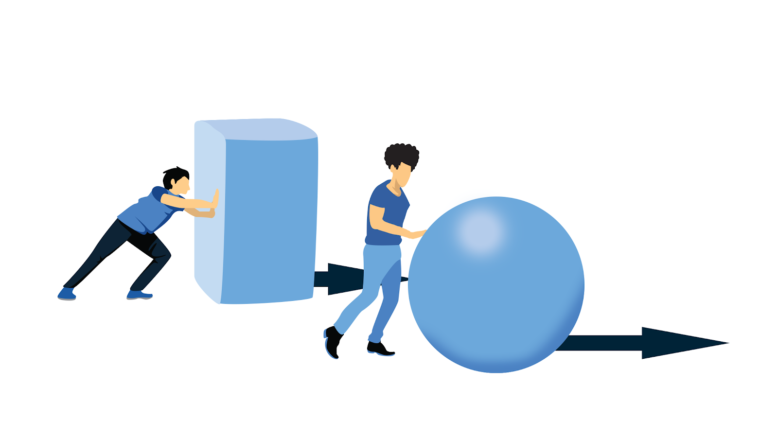 illustration of defining tasks allows a person to work smarter