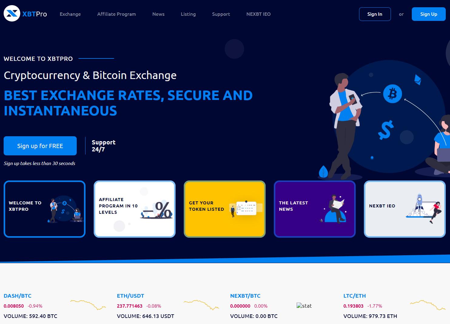 XBTPRO exchange