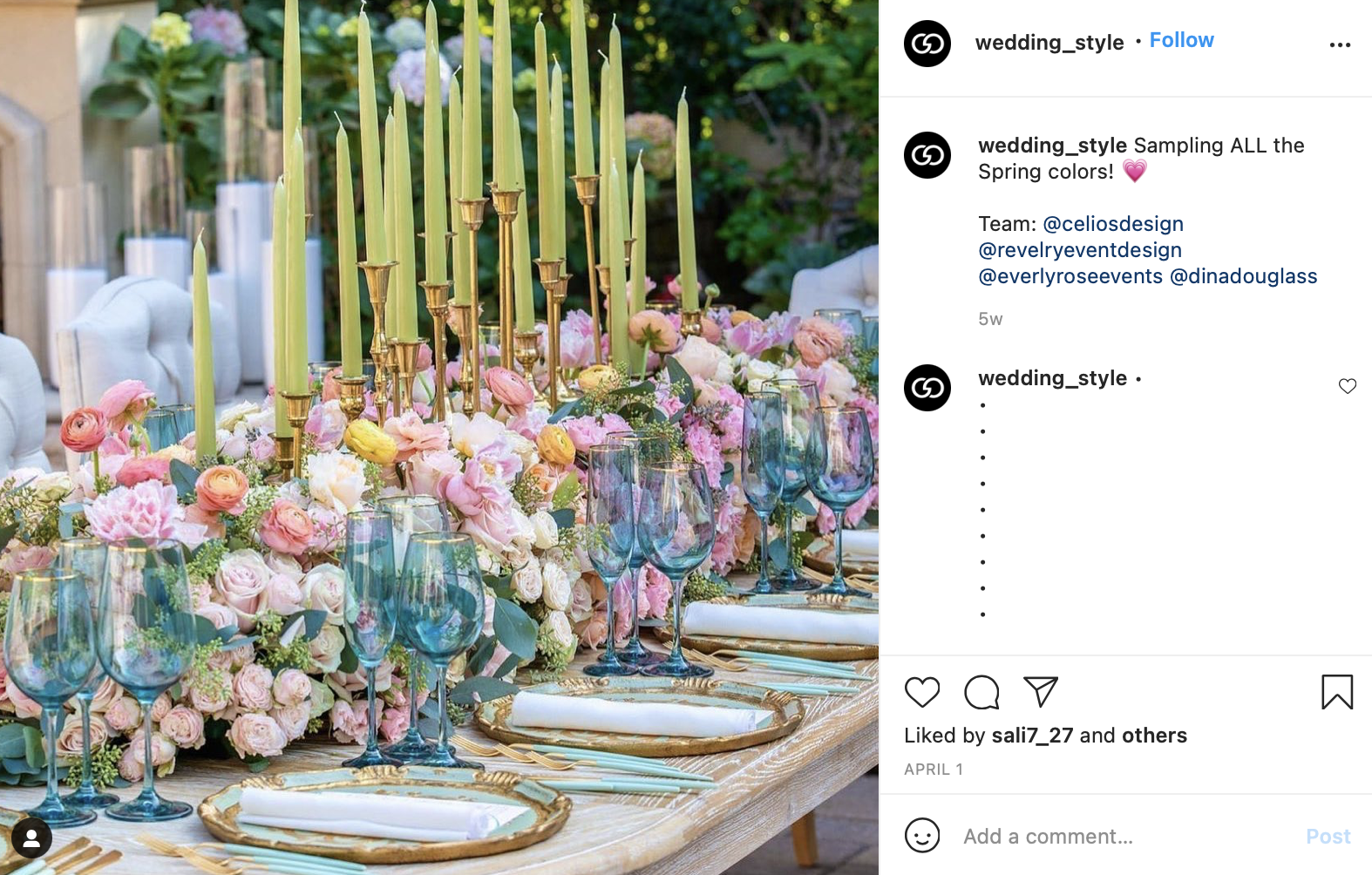 pastel tones wedding color scheme