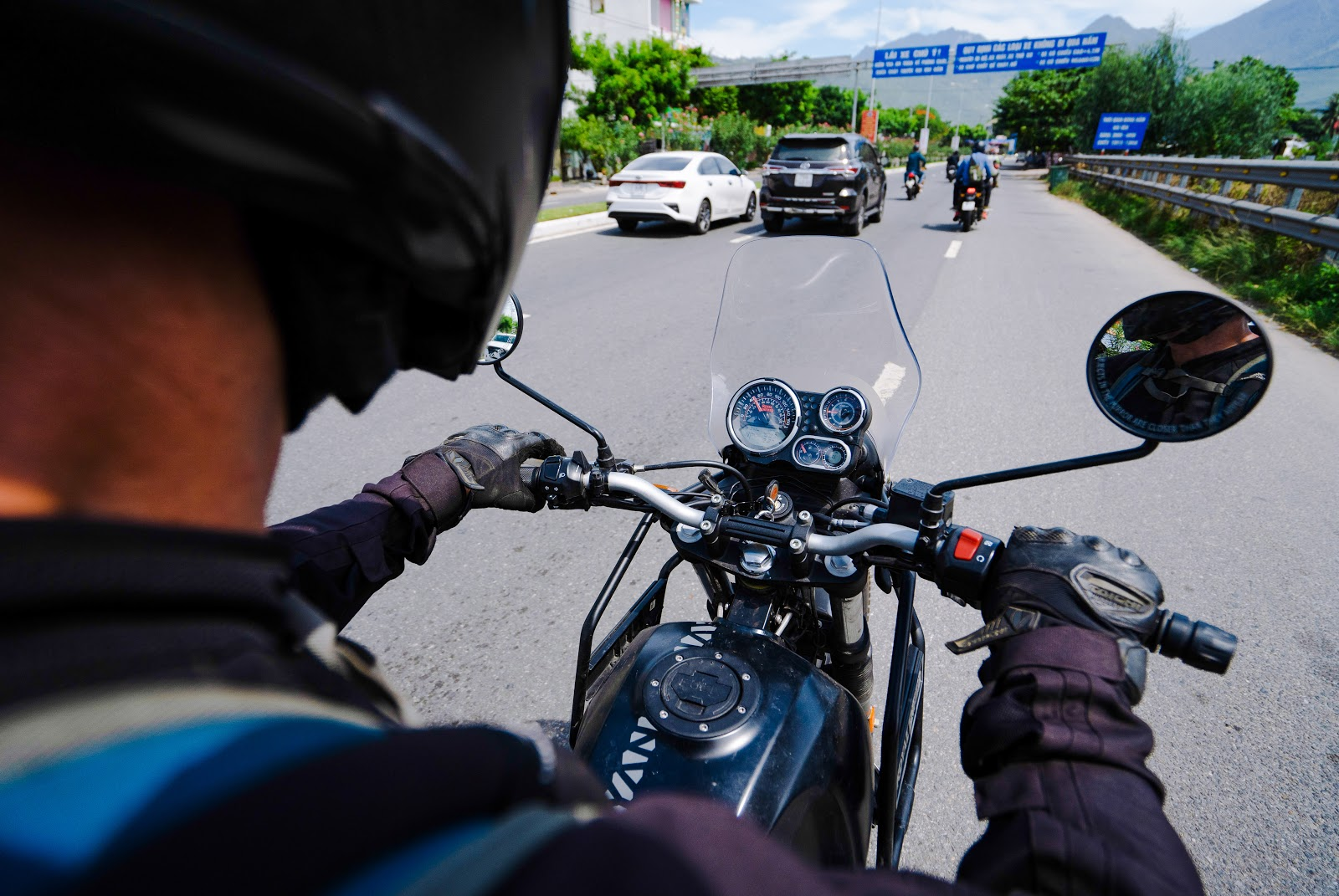 Himalayan clocks provide easy to read info, great for motorbike tours in Vietnam