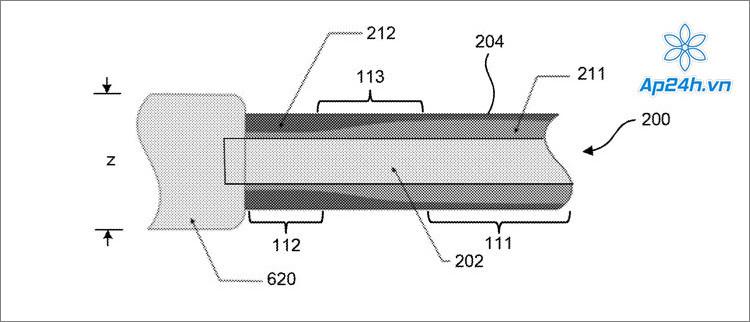Hình ảnh mô tả về sáng chế cáp sạc mới của Apple