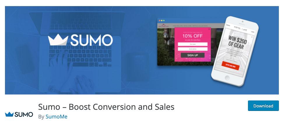 Sumo WordPress plugin page.